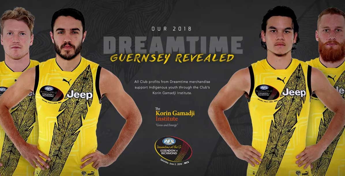 2018 Dreamtime guernsey revealed