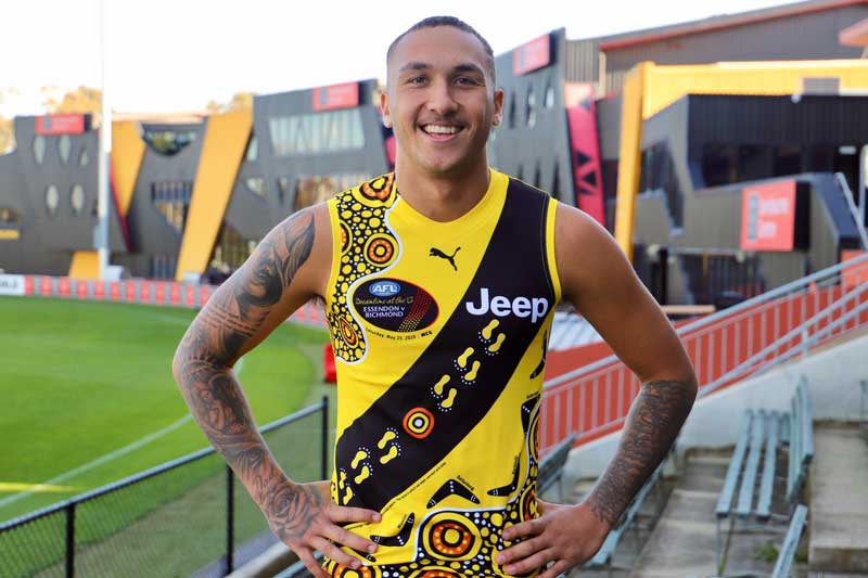 Shai Bolton and family design Richmond's 10th Dreamtime jumper