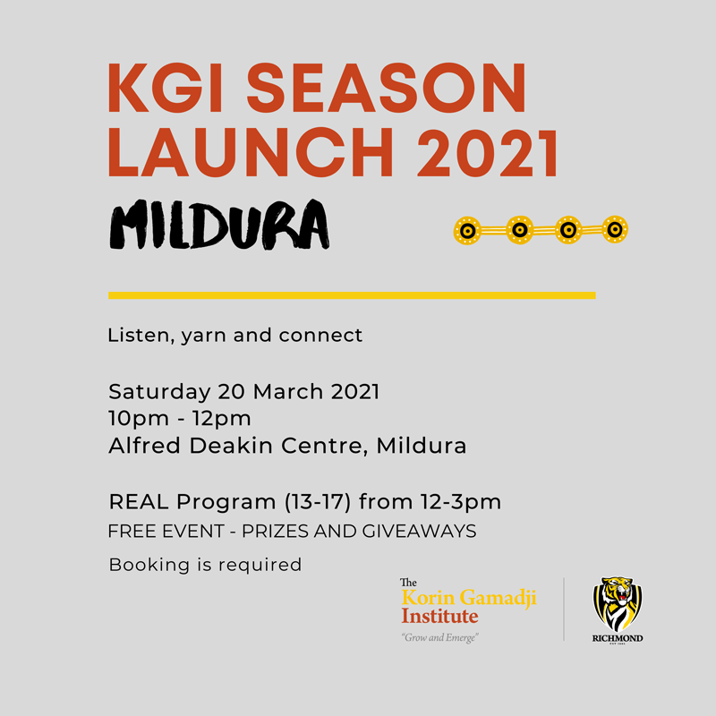 KGI Season Launch Mildura Saturday 20 March